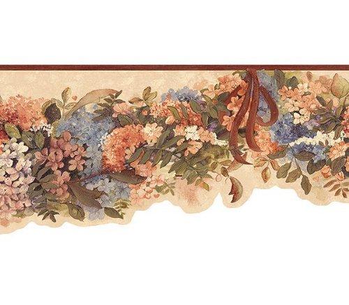 (Chesapeake FP00191B Hydrangea Die Cut Wallpaper Border, Multi )