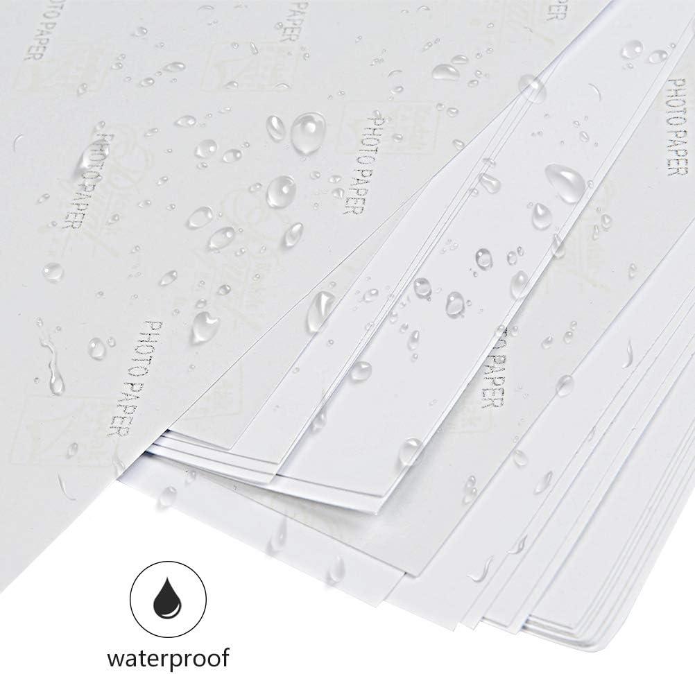 5 fogli aggiuntivi compatibile con stampanti fotografiche e a getto dinchiostro 100 fogli colore: bianco grammatura: 180 g//m/² GO Inkjet/® impermeabile Carta fotografica ad alta lucidit/à in formato A4