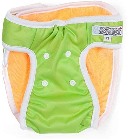 ashable Wonders Male Dog Diaper Waterproof and Washable Premium Reusable Dog Diapers Green L Dog Diapers for Male Large Dogs
