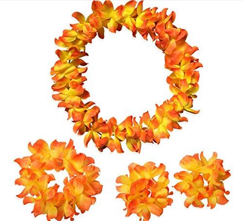 Sun Glower Activity Decoration Festive Wreath 1 Collo Ring e Fascia + 2 Bracciali_Sunset Rosso