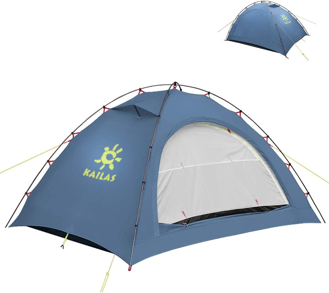 KAILAS Zenith II 1 and 2 Person Camping Tent Backpacking Lightweight 4 Season Waterproof Tents for Hiking Mountaineering-Easy Setup