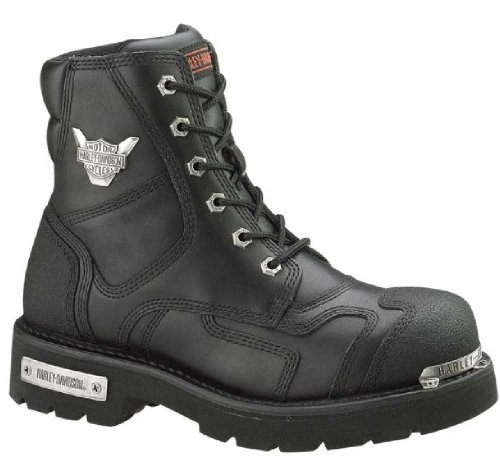 Harley-Davidson Women's Stealth 5.25-Inch Lace-Up Motorcycle Boots, Black D81641