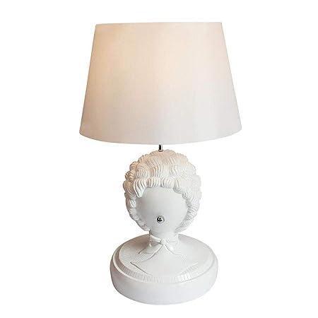 JIAJ Lámparas Mane Head Lamp - Lámpara de Mesa de Resina ...