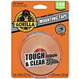 Gorilla 6036002 Tough & Clear XL Mounting Tape, 150 inches, Clear