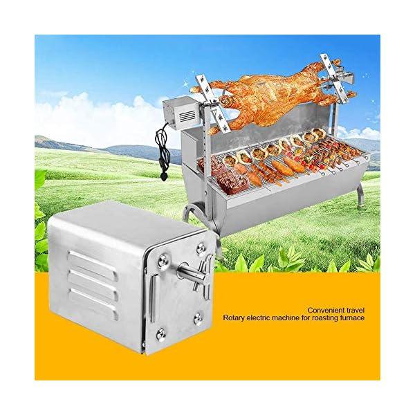 4YANG Acciaio Inox Barbecue Grill girarrosto Motore Motore girarrosto a griglia da 70 kg BBQ Roaster Motore Elettrico… 2 spesavip