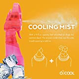 O2COOL Deluxe Misting Fan, 1, Raspberry