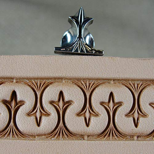 Stainless Steel Barry King - #3 Crown Serpentine Border Stamp (Leather - Leather Serpentine