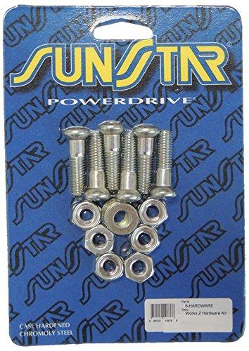 Sunstar 8-HARDWARE Silver Rear Sprocket Hardware Kit