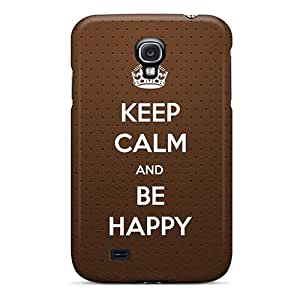 Cute Tpu OrangeColor Cowhide Text Background Case Cover For Galaxy S4