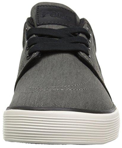 Polo Ralph Lauren Mens Faxon Sneaker Bassa Lavato Nero Twill