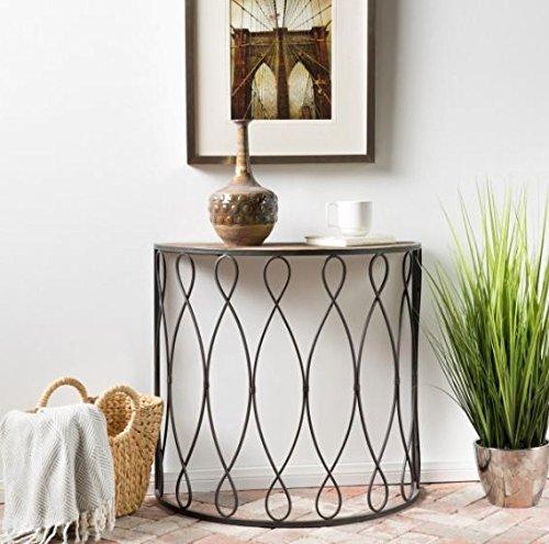 Terrific Amazon Com Semi Circle End Table With Storage Area Side Frankydiablos Diy Chair Ideas Frankydiabloscom