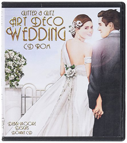Debbi Moore Designs CDSET152 Art Deco Double CD Set, Wedding (Cd Insert Matt)