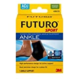 3M Health Care 48635EN FUTURO Sport Ankle Support, Moisture Control, Adjustable, Black (Pack of 12)