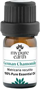 German Chamomile Essential Oil, 100% Pure, Sustainably Sourced, Organically Crafted, Aromatherapy, My Pure Earth, 5ml