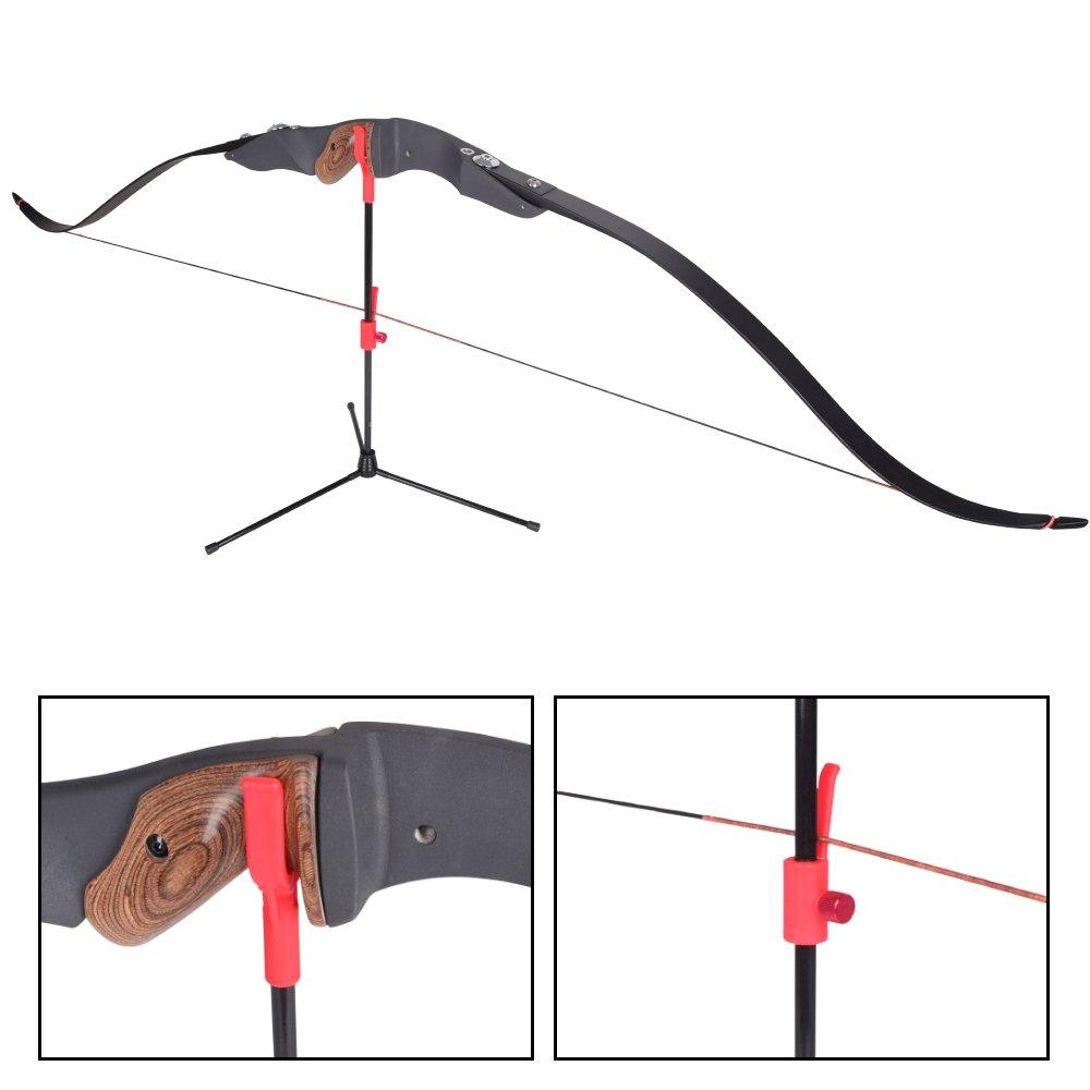 YLA tir à l'arc Bow Support Bowstand Chasse Tir à l'arc d'extérieur pour Recurve Bow Green