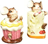 CG Mouse with Cheese and Cupcake Salt and Pepper Shakers, 3.5''