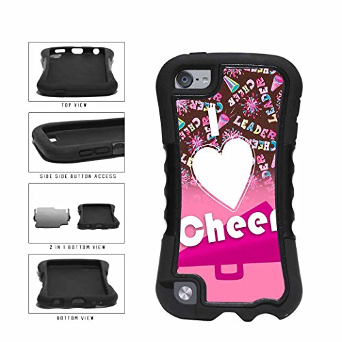 Plate Girl Cheerleader (BleuReign(TM) Cheerleader I Love to Cheer on Pink Dual Layer Phone Case Back Cover Apple iPod Touch 5th Generation)
