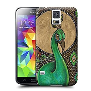 Unique Phone Case Colorful Art Nouveau Peacock Bird Animal Icon Art Print Hard Cover for samsung galaxy s5 cases-buythecase