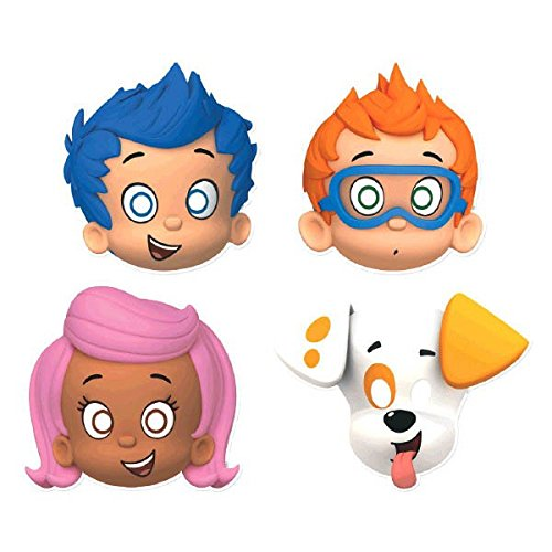 Bubble Guppies Costumes (Bubble Guppies Party Hats/ Masks, 8 Count, Party Supplies)