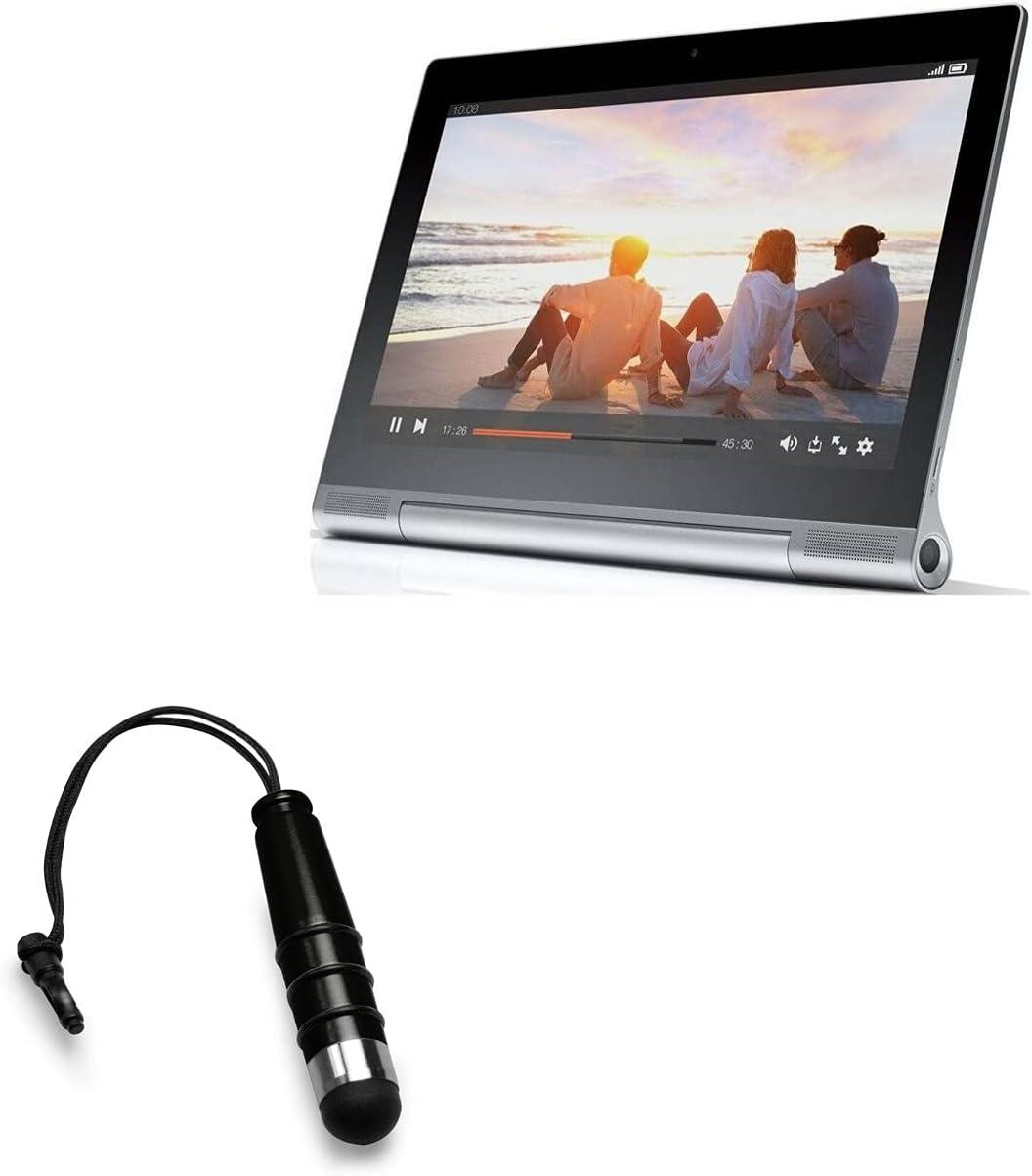 Stylus Pen for Lenovo Yoga Tablet 2 Pro (Stylus Pen by BoxWave) - Mini Capacitive Stylus, Small Rubber Tip Capacitive Stylus Pen for Lenovo Yoga Tablet 2 Pro - Jet Black