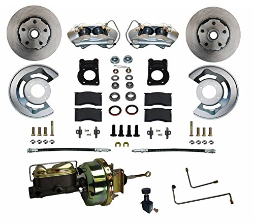 "GPS Automotive FC0001-H405A - Power Conversion Kit with 7"" Zinc Booster Cast Iron M/C Adjustable Proportioning Valve - Automatic Transmission"
