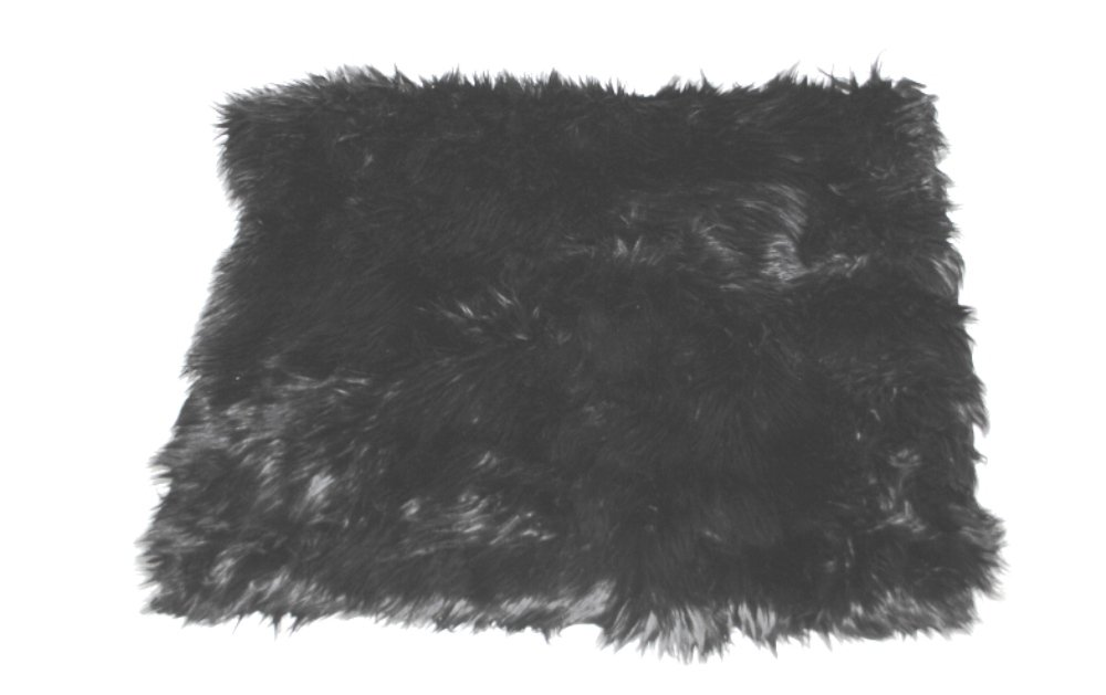 The Dog Squad All Plush Kennel Pet Bed Cover, Black Shag
