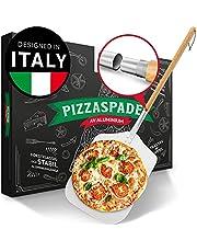 Pizza Divertimento® Pizzaspade - Rostfri aluminiumspade [84 cm] - Praktisk & solid - Pizzaspatel med rundade kanter och ögla