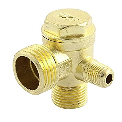 3-way Air Compressor Replacement Parts Male Threaded Check Valve by uxcell
