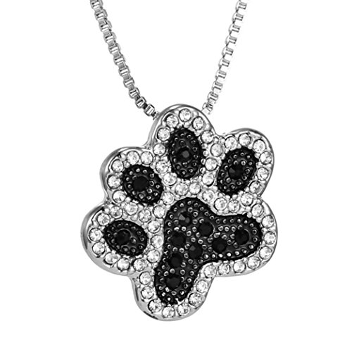 Necklace, Hatop Necklace for Women Personalized Fashion Jewelry Crystal Rhinestone Dog Paw