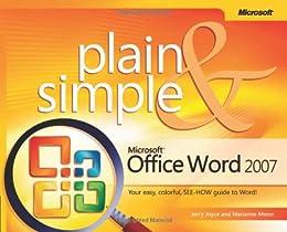 Microsoft  Office Word 2007 Plain & Simple (Plain & Simple Series)