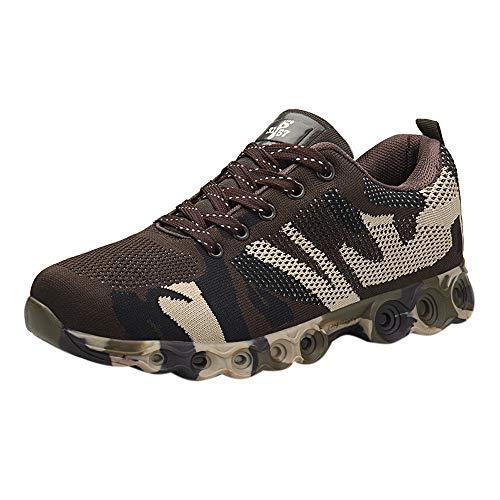 Scarpe/Sneakers/ Mocassini Uomo ASHOP Scarpe Casual da Uomo Moda Scarpe Comode Morbide Scarpe Stringate da Uomo in Camoscio Verde Militare/Grigio/ Marrone EU 40-EU 45 Marrone