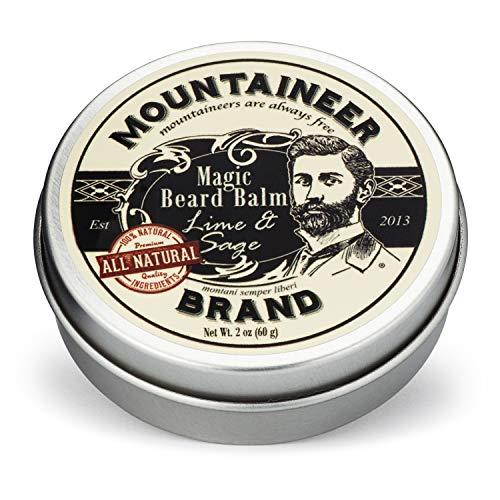 Magic Beard Balm by Mountaineer Brand: All Natural Beard Conditioning Balm (Lime & Sage)
