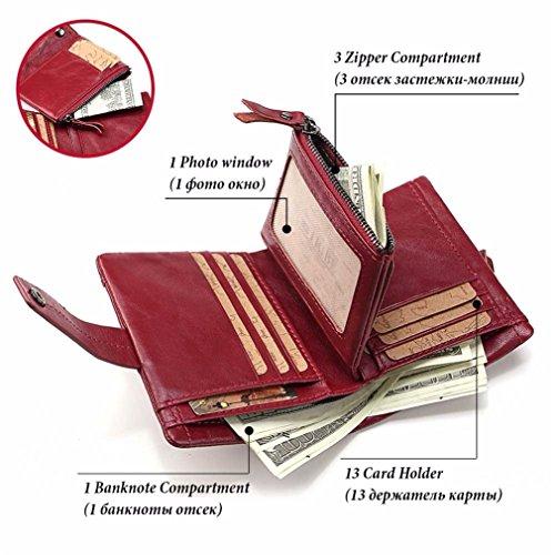 Genuine Small Red Purse Women Fashion Money Zipper Walet Wallet Leather And Coin Portomonee Mini Bag Female Lady dPaqTw