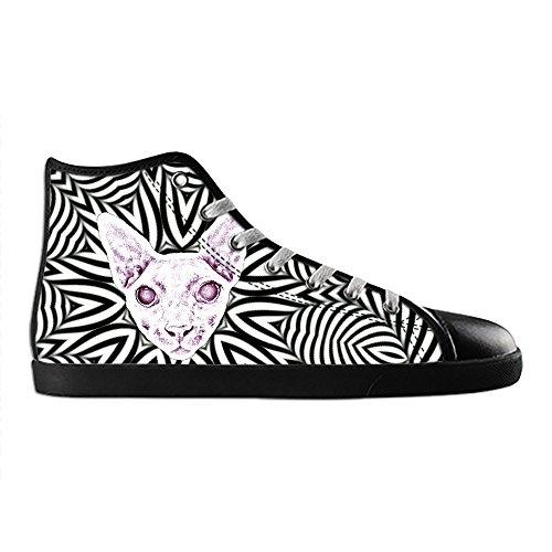 Dalliy kunst katze Mens Canvas shoes Schuhe Lace-up High-top Sneakers Segeltuchschuhe Leinwand-Schuh-Turnschuhe D
