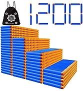 POKONBOY 1200 Pack Refill Darts Compatible with Nerf Guns, Refill Bullet Darts Foam Darts Compati...