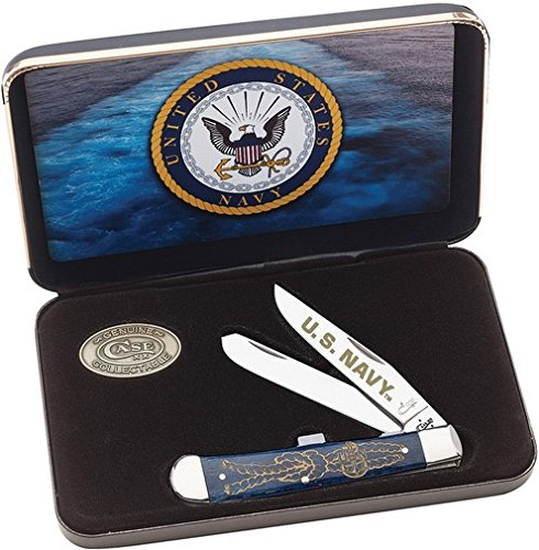 W.R. Case & Sons Cutlery United States Navy Trapper Knife Gift (Case Knife Gift Set)