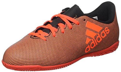 adidas X 17.4 In J, Zapatillas de Fútbol Sala Unisex Niños Multicolor (Core Black/solar Red/solar Orange)