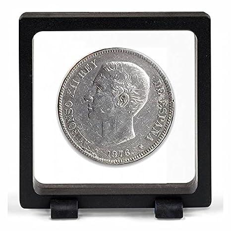 IMPACTO COLECCIONABLES Monedas Antiguas - España 5 Pesetas de Plata de Alfonso XII: Amazon.es: Juguetes y juegos
