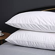 """Dreamaker 2X 4X Cotton Terry Towelling Waterproof Pillow Protector Cover Pillow Cases Standard King Size Pillow Shams Set of 2 (2, King (20""""X36""""))"""