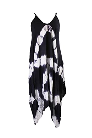 bbce793d102a1 Raviya Womens Maxi Tie-Dye Dress Swim Cover-up Navy S at Amazon Women's  Clothing store: