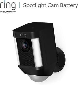 Ring Spotlight Cam Battery, HD-beveiligingscamera met led-spots, alarm, tweeweg-audio, werkt op accu | Inclusief proefabonnement van 30 dagen op Ring Protect Plus | Zwart