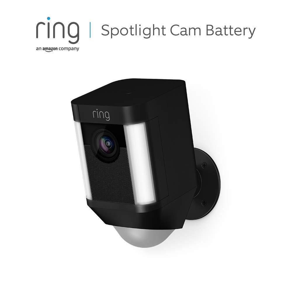 Ring Spotlight Cam Battery | Caméra de surveillance HD, projecteur LED, alarme,...