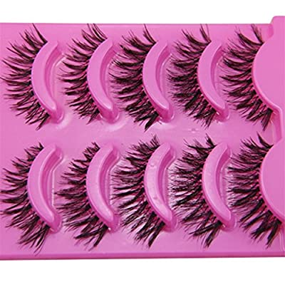 GUAngqi 5 Pairs Natural Look Fake Eye Lash False Eyelashes Extension Makeup
