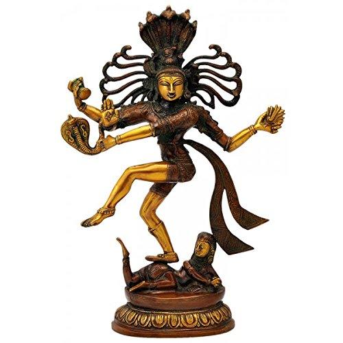 Gangesindia Unique Lord Nataraja Figurine with Shesh Naga Hood Reserved