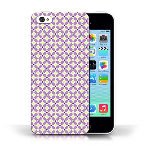 Kobalt® protector duro de nuevo caso / cubierta para el Apple iPhone 5C | Púrpura Diseño | Patrón de molino de viento colección