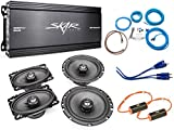 Skar Audio 6.5' and 4'x6' Complete Speaker Upgrade Package with Amplifier, Wiring Kit, and Noise Filters
