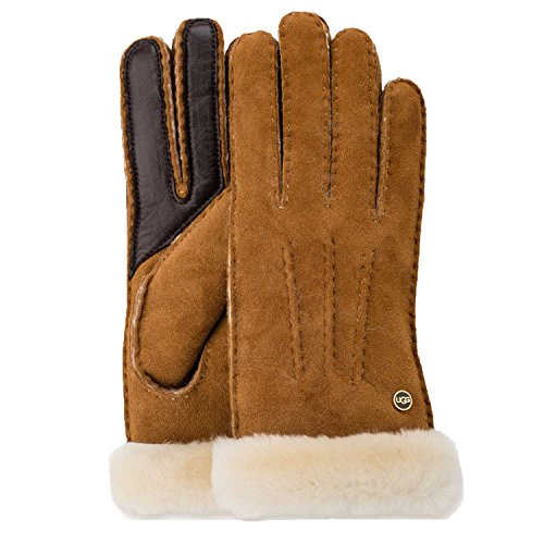 UGG Womens Carter Glove In Chestnut Size Large