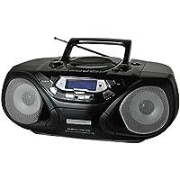 QFX J-33U AM/FM Portable Radio Cassette Player CD and USB