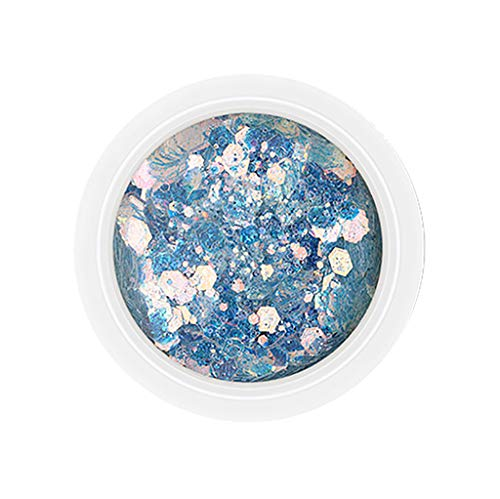 utda.sh-fs women's nails Nail Art Powder Mirror Mix Glitter Sequins Holographic Laser Rainbow Neon Pearl Pigment Eye Makeup Gradient Flash Jew Manicure Glitter Dust (B)]()