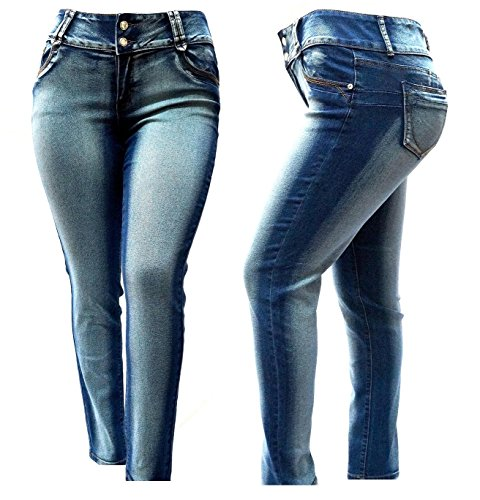 676ab0d2f20ec 1826 Women s PLUS SIZE Acid Wash BLUE Stretch HIGH WAIST Denim JEANS SKINNY  LEG good